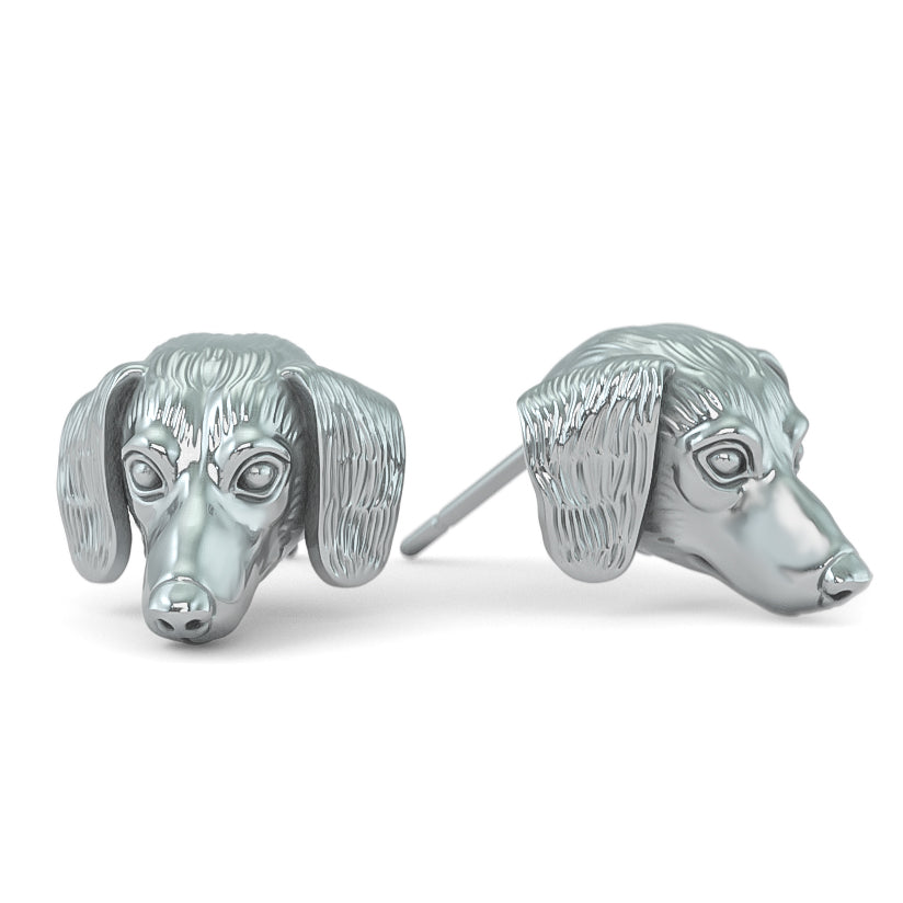Dachshund Breed Puppy Face Earring Studs