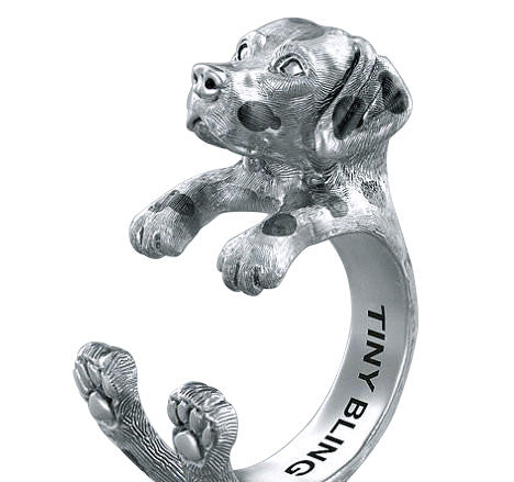 Dalmatian Breed Jewelry Cuddle Wrap Ring