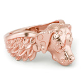 Dalmatian Angel Wings Memorial Ring