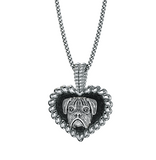 Boxer Breed Puppy Love Heart Pendant