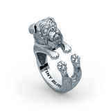 English Bulldog Diamond Cuddle Wrap Ring