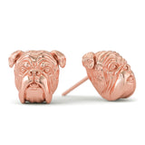 English Bulldog Puppy Face Earring Studs