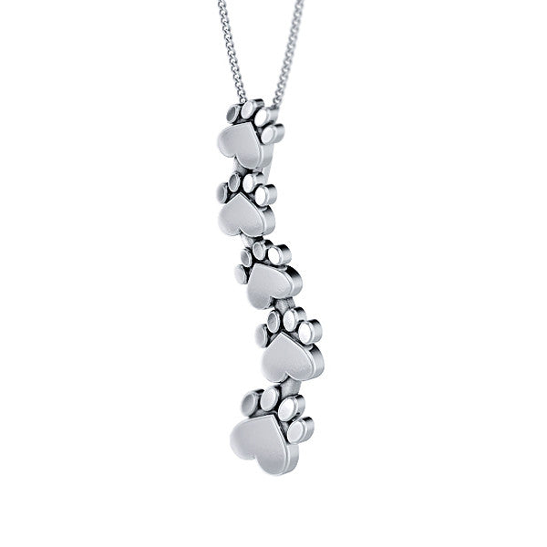 Floating Paw Print Pendant - TINY BLING