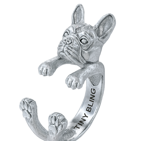 French Bulldog Breed Jewelry Cuddle Wrap Ring