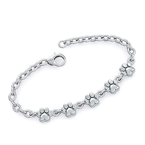 Furry Friend Paw Print Bracelet - TINY BLING
