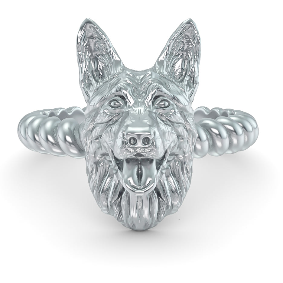 German Shepherd Breed Twisted Wire Rope Ring