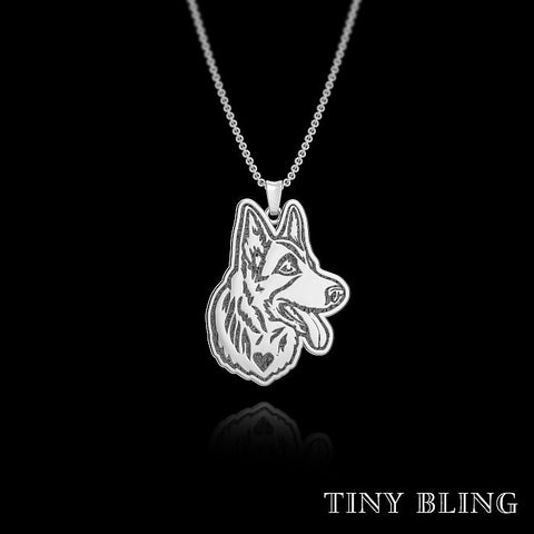 German Shepherd Breed Jewelry Necklace - TINY BLING