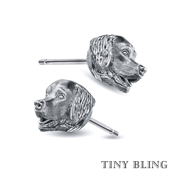 Golden Retriever Earring Studs - TINY BLING