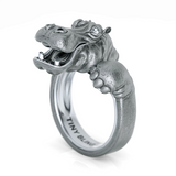 Happy Hippo Snuggle Ring-Sterling Silver