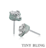 Jack Russell Face Earring Studs - TINY BLING