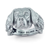 Labrador Retriever Angel Wings Memorial Ring