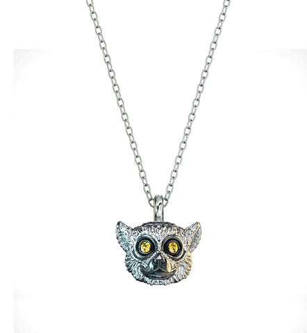 Ring-Tailed Lemur Diamond Necklace