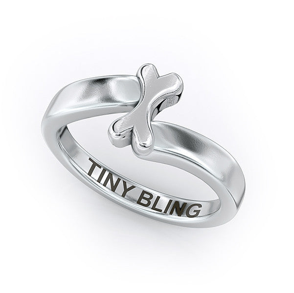 Lucky Bones Bypass Ring - TINY BLING