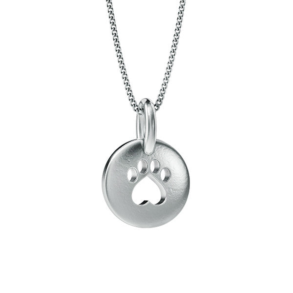 Bella Mini Paw Print Pendant - TINY BLING
