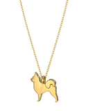 Chihuahua Long Hair Mini Pups Diamond Necklace YG