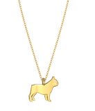 French Bulldog Mini Pups Diamond Necklace yg