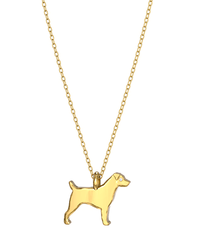 Jack Russell Mini Pups Diamond Necklace yg
