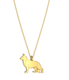 German Shepherd Mini Pups Diamond Necklace yg