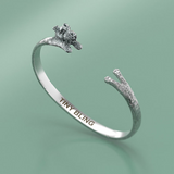 Miniature Schnauzer Jewelry Cuddle Cuff Bracelet - TINY BLING
