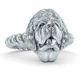 Newfoundland Dog Breed Twisted Wire Rope Ring