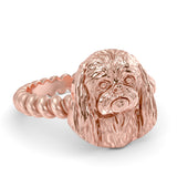 PEKINGESE Twisted Wire Rope Ring