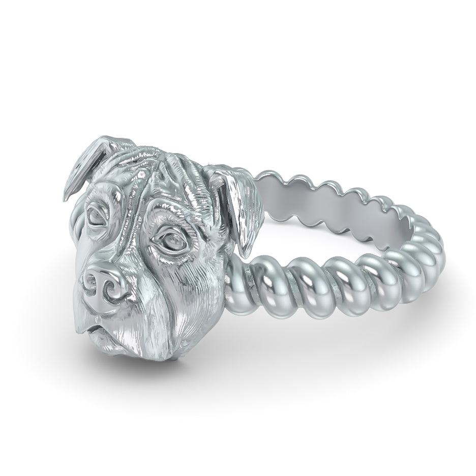 Pit Bull Breed Twisted Wire Rope Ring