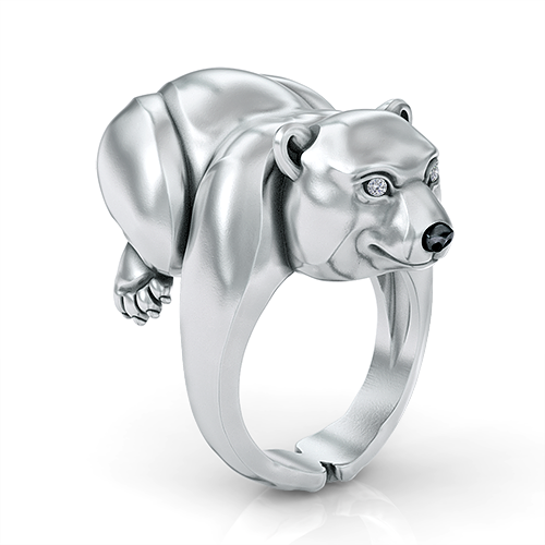 Cuddly Polar Bear Ring