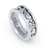Paws and Hearts Eternity Band Ring - TINY BLING
