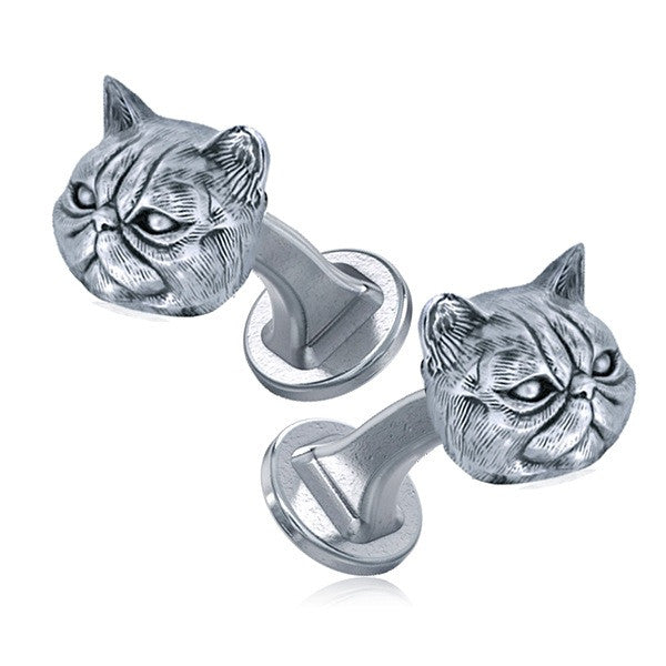Persian Cat Breed Face Cufflinks