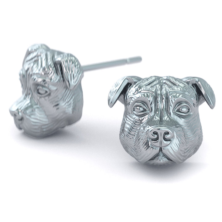 PIT BULL Breed Face Earring Studs