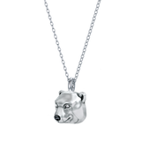 Polar Bear Face Charm