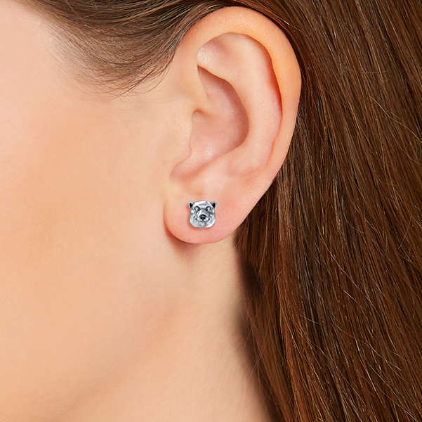 Polar Bear Earring Studs