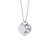 Paw Prints On My Heart Pendant - TINY BLING