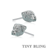 Rottweiler Face Earring Studs - TINY BLING