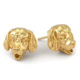 Golden Retriever Puppy Face Earring Studs