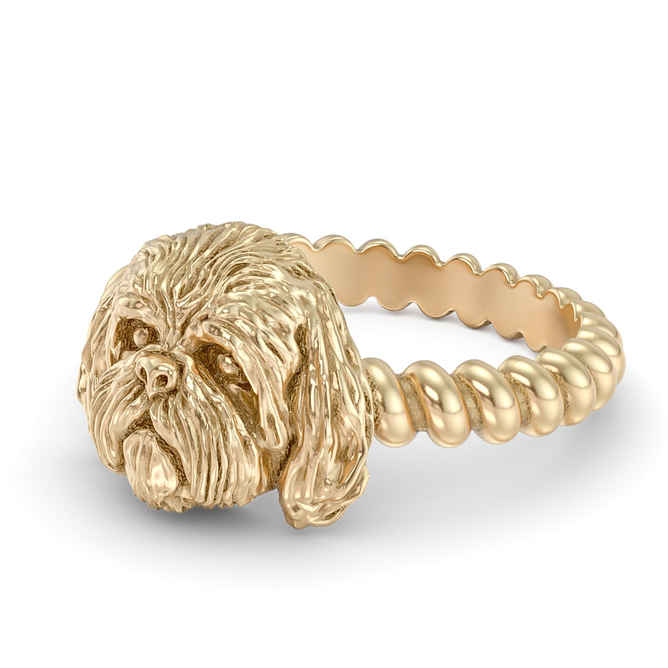 Shih Tzu Breed Twisted Wire Rope Ring
