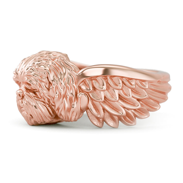Shih Tzu Angel Wings Memorial Ring