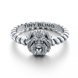 Affenpinscher Twisted Rope Ring