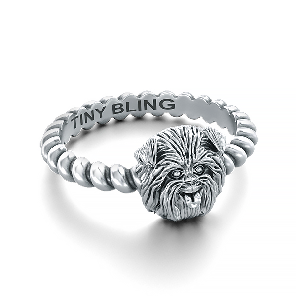 Affenpinscher  Breed Jewelry Twisted Wire Rope Ring