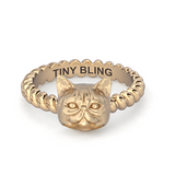 Exotic Short Hair Persian Cat Twisted Wire Rope Ring