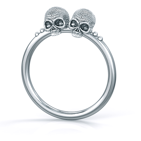 Mini Gemini Skull Ring