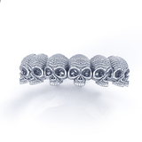 Union Eternity Skull Ring Sterling Silver 3