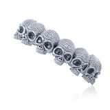 Union Eternity Skull Ring Sterling Silver 2