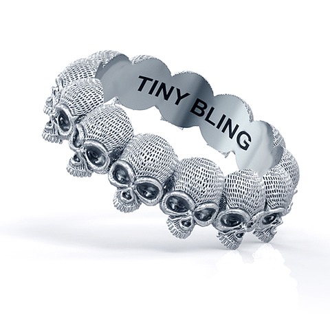 Union Eternity Skull Ring Sterling Silver 1