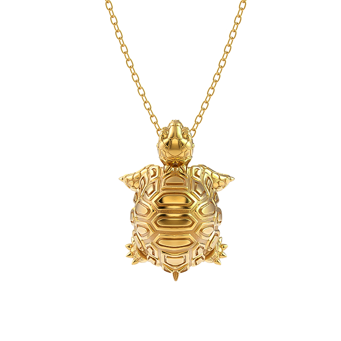 Madagascar Tortoise Diamond Necklace-2