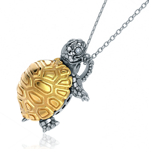 Madagascar Tortoise Diamond Necklace