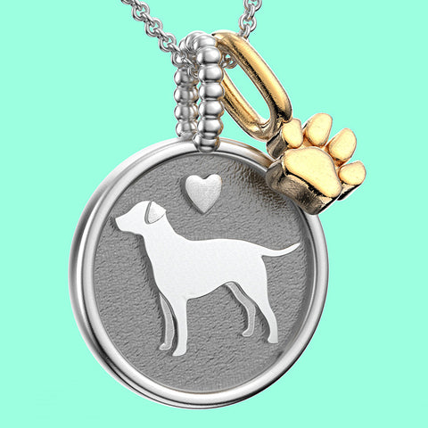 Labrador Retriever Doggy Disk Charm - TINY BLING