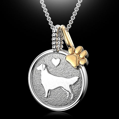 Golden Retriever Doggy Disk Charm - TINY BLING