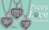 Puppy Love Heart Pendant - TINY BLING