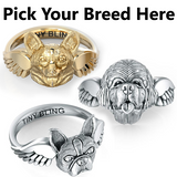 All Dog Breeds- Angel Wings Memorial Ring